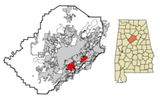 Vestavia Hills locator map.png