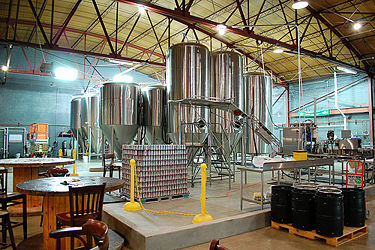 Inside the Good People Brewing Company brewery in October 2012. Photo by Gottfried not Bouillion.