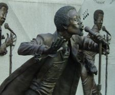 Statue of Kendrick fronting the Temptations at Birmingham's Eddie Kendrick Memorial Park