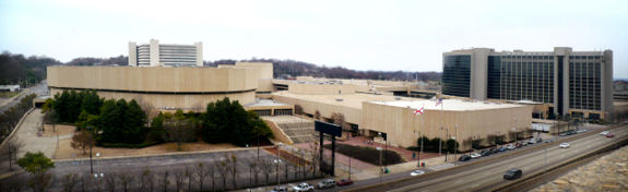 View of the BJCC from Birmingham Parking Authority Deck 2. February 16, 2008