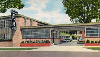 Postcard view of the A. G. Gaston Motel in the 1950s