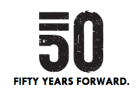 50 Years Forward logo