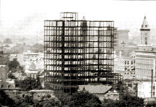 The unfinished Roden Hotel, c. 1917
