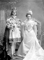Rex Vulcan III & Queen, 1898 Mardi Gras; courtesy BPL Archives