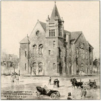 Rendering of Trinity Baptist Church by W. A. Rayfield & Co.