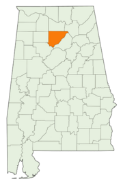 Location of Cullman County