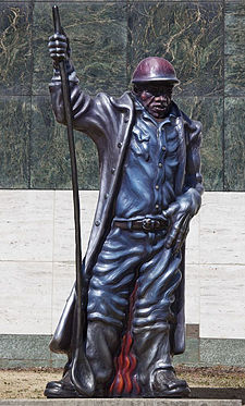 "Luis Jiminez's ""Steelworker"" was acquired by the Birmingham Museum of Art in 2001"