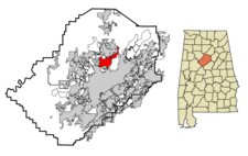 Fultondale locator map.png