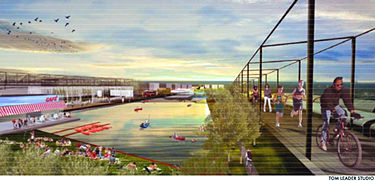 Rendering of the proposed park by Tom Leader Studio