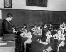 A classroom in 1931, courtesy BPL Archives