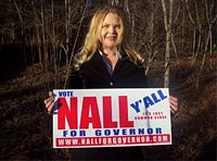 Loretta Nall with 2006 campaign sign