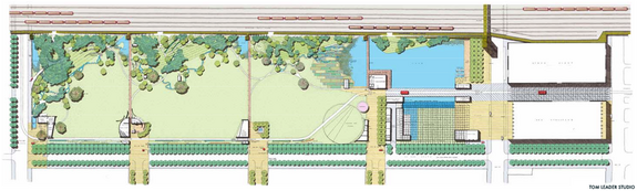 Conceptual plan by Tom Leader Studio for the proposed park