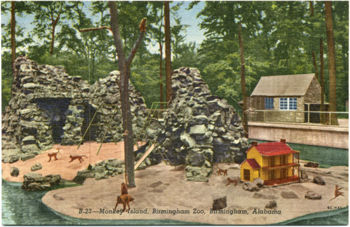 Postcard view of Monkey Island