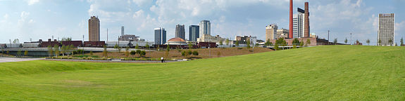Birmingham's Railroad Park opened downtown in 2010.