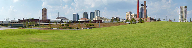 View of the Railroad Park on September 17, 2010