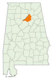 Location of Blount County