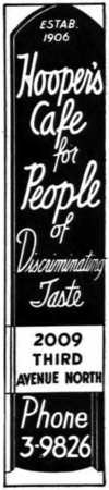 1940 Hoopers Cafe ad.png