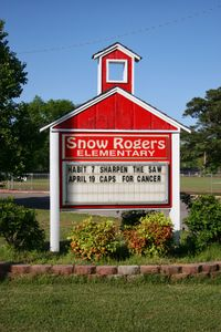 Snow Rogers sign